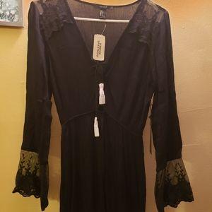 Forever 21 Long Sleeved Long Length Dress